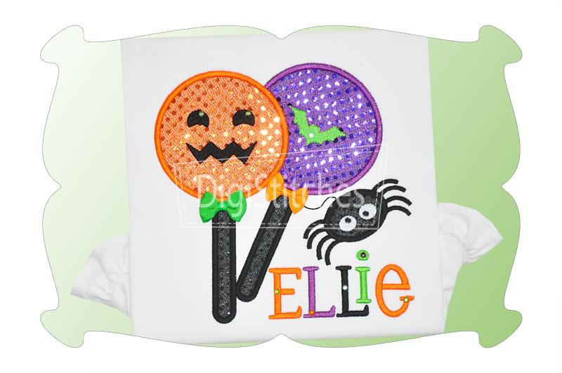 Halloween lollipops applique