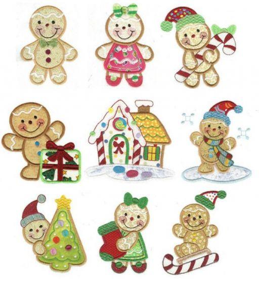 Merry Christmas Ginger Applique
