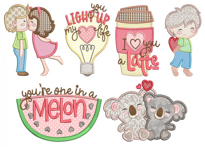Sweet Love 1 Machine Embroidery Designs By JuJu