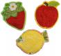 In The Hoop Fruit Coasters Set 1 Digital Machine Embroidery Designs by JuJu Exclusive