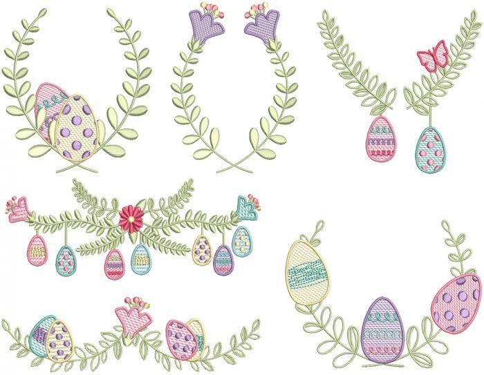 Easter Laurels Set 1