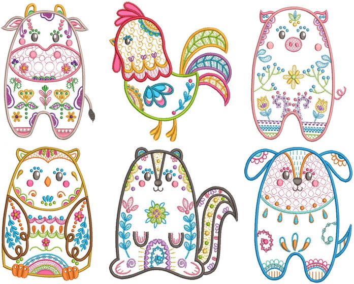 Folk Art Animals 4