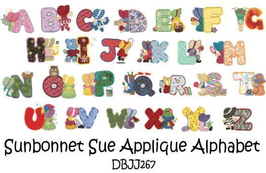 Sunbonnet Sue Applique Alphabet