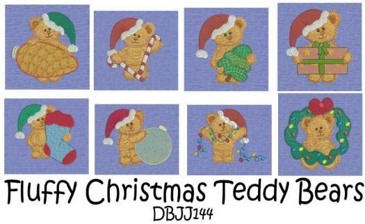 Fluffy Christmas Teddy Bears