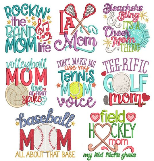 Sports Mom Word Art 2