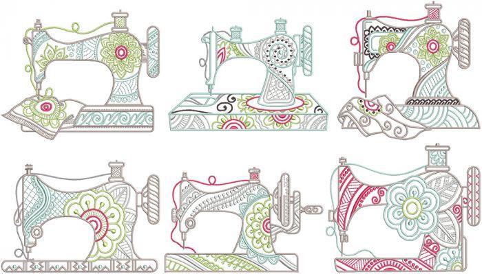 Mehndi Sewing Machines Digital Machine Embroidery Designs by JuJu