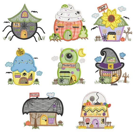 Halloween Village Houses