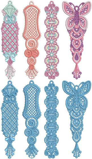 Freestanding Lace Bookmarks Machine Embroidery Designs by JuJu