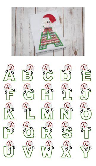 Santa Alphabet Applique