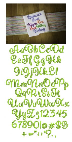 Spumante Embroidery Font
