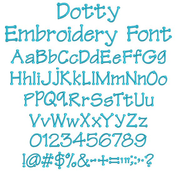 Dotty Embroidery Font