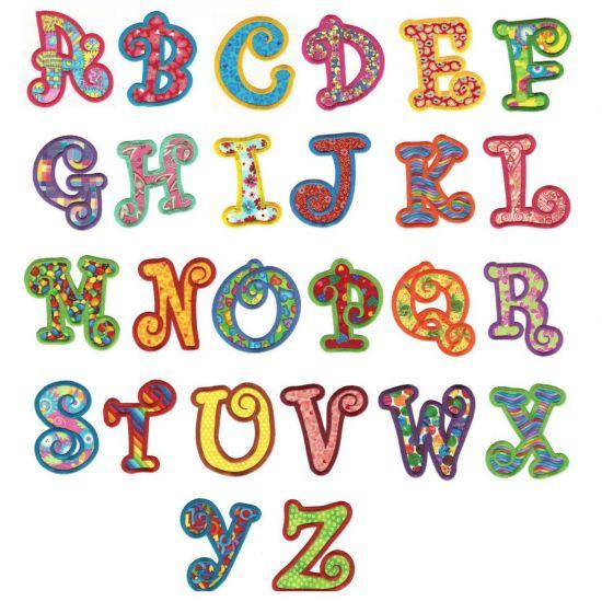 Chunky curlz curly applique machine embroidery monogram alphabet font