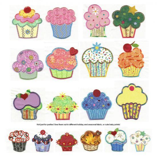 Cute as a Cupcake Applique
