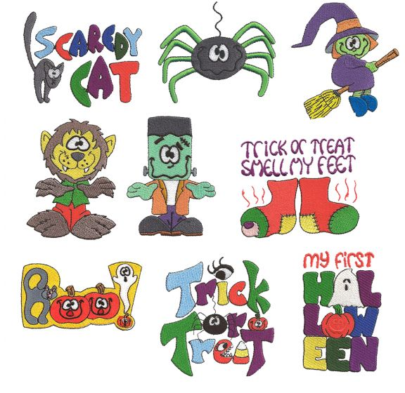 Halloween Filled Set 3 machine embroidery designs by juju