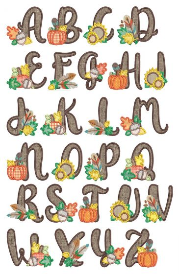Autumn Applique Alphabet