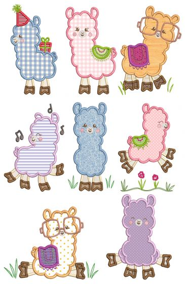 Llamas Applique Machine Embroidery Designs by JuJu