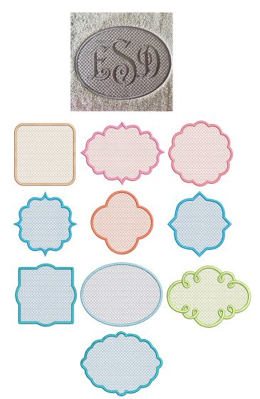 Motif Filled Knockdown Stitch Frames Set 2 Machine Embroidery Designs By JuJu