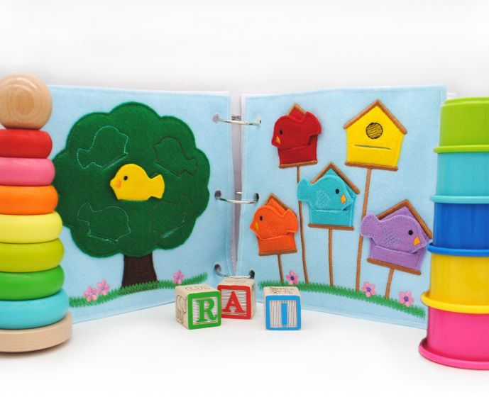 Busy Book Page Birdhouse Coloring Deluxe