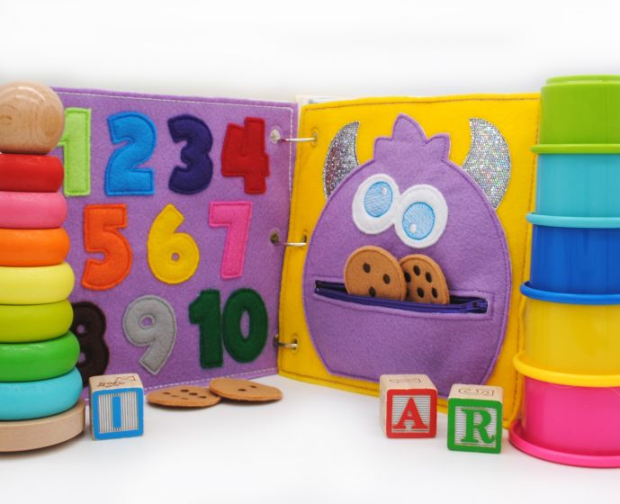 Busy Book Page Monster Cookie Counts Deluxe