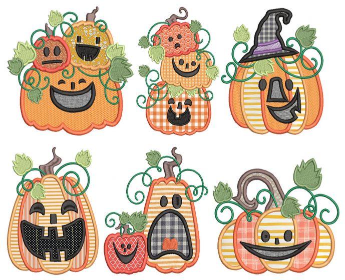 Fun Jack O Lanterns Applique