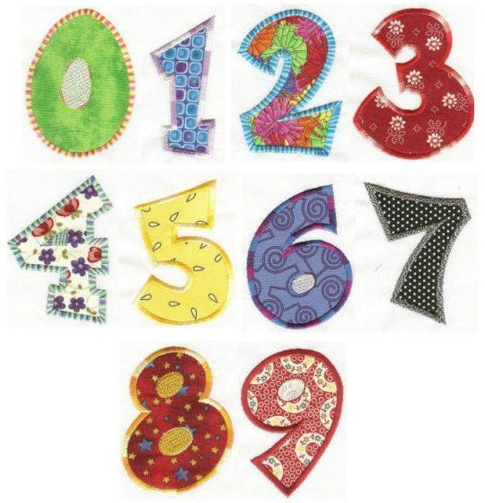 Fun Applique Numbers