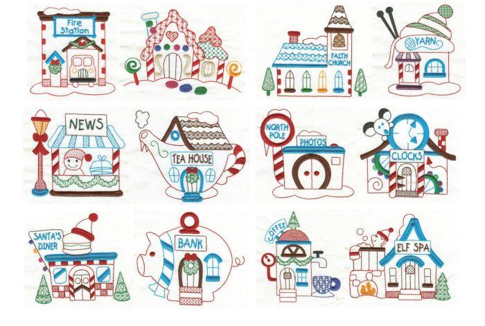 North Pole Village Colorwork Set 3