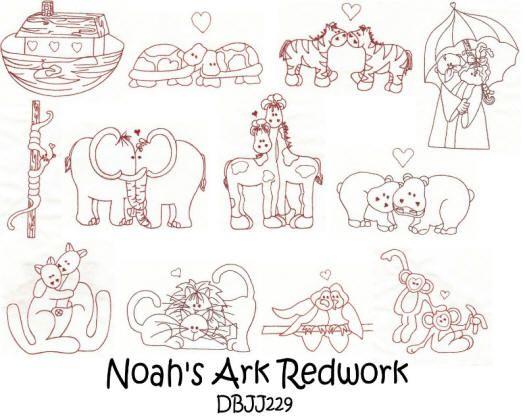 Noah's Ark Redwork