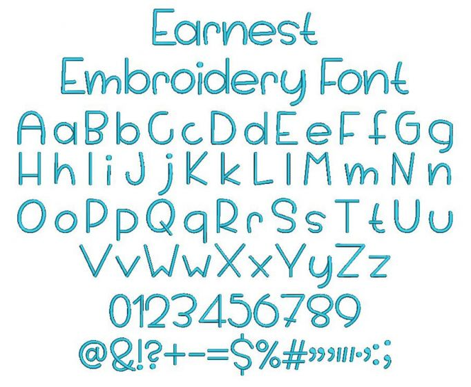 Earnest Embroidery Font