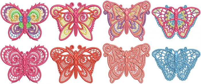 Free Standing Lace Butterflies 2