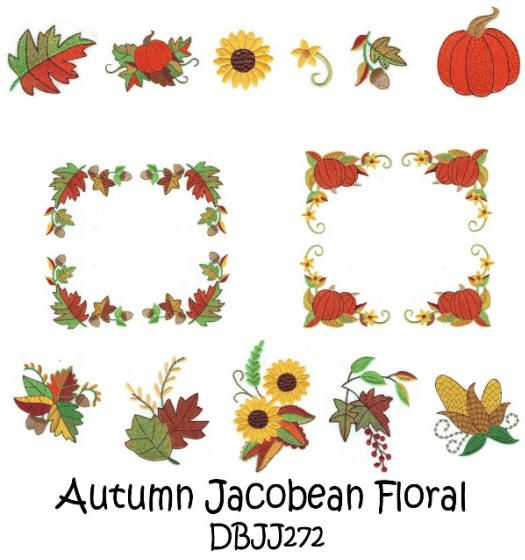 Autumn Jacobean Floral