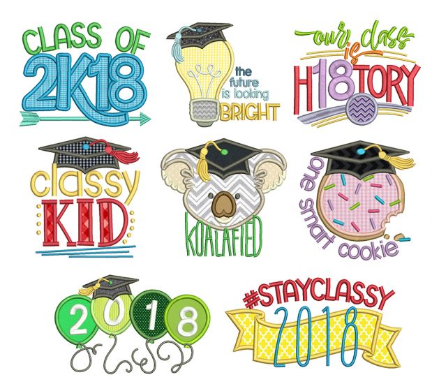 Graduation Word Art Machine Embroidery Designs By JuJu