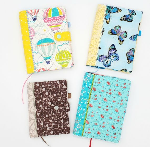 ITH Snap Tab Small Notebook Cover Set 2 Digital Machine Embroidery Designs by JuJu Exclusive