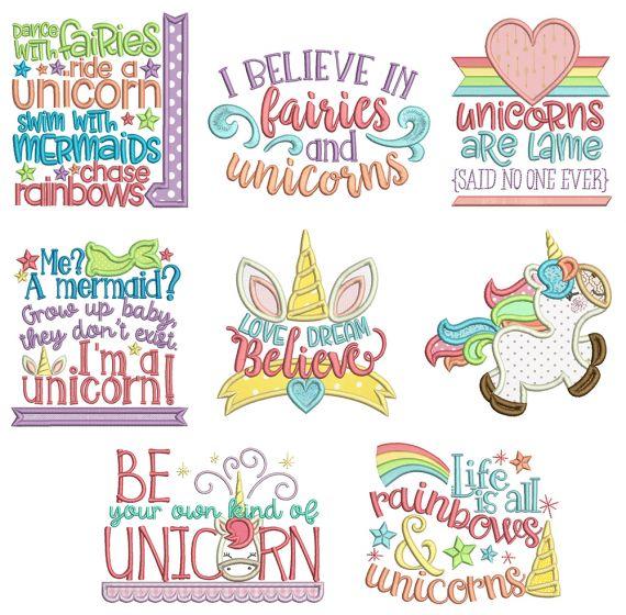 Be A Unicorn Machine Embroidery Designs By JuJu