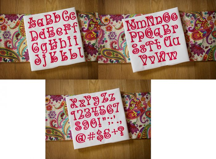 Whimsy Curls Embroidery Font