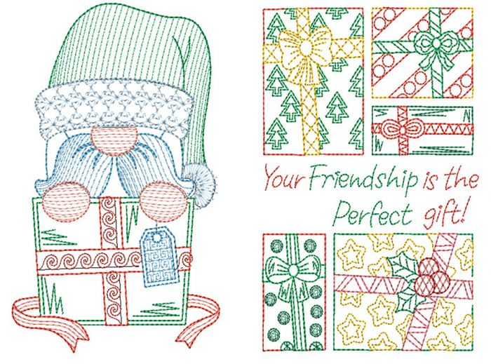 Christmas Greeting Cards Set 3 Digital Machine Embroidery Designs by JuJu