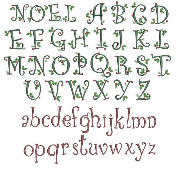 Curly Christmas Alphabet