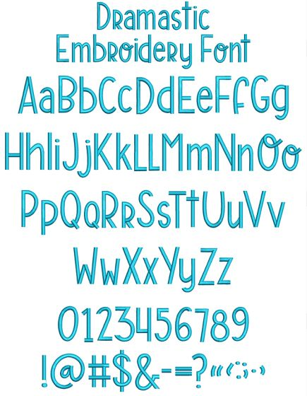 Dramastic Embroidery Font Machine Embroidery Designs By JuJu