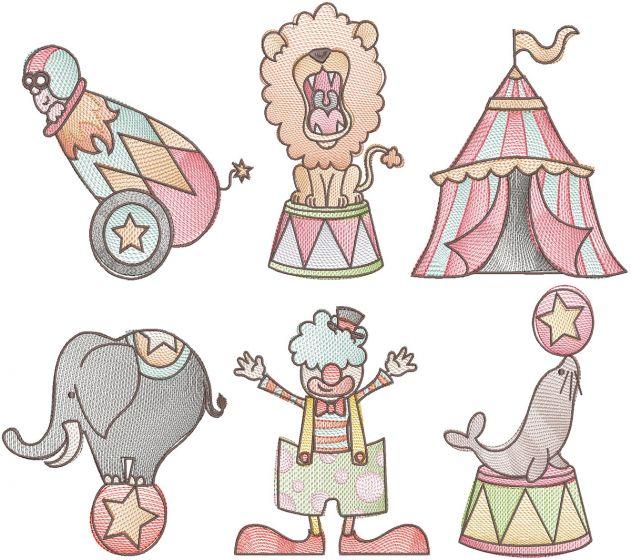 Vintage Sketch Circus