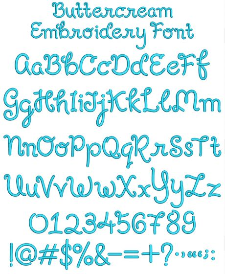 Buttercream Embroidery Font Machine Embroidery Designs By JuJu