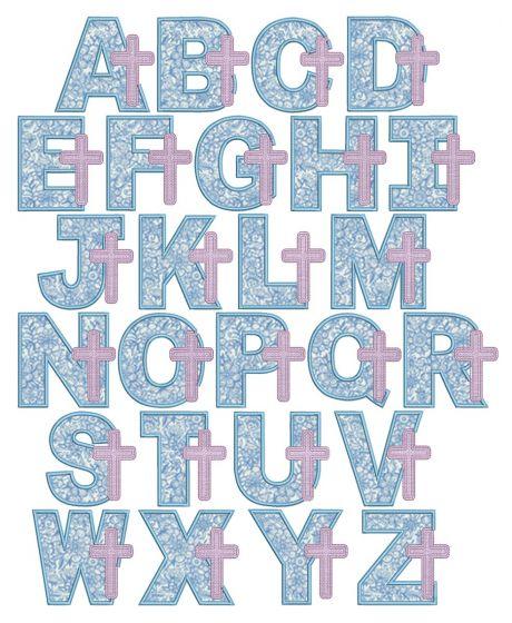 Cross Applique Alphabet