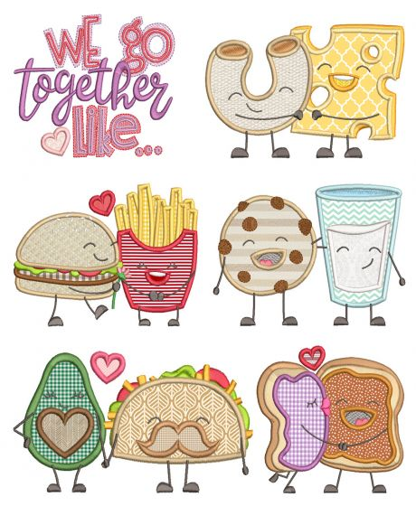 We Go Together Applique Machine Embroidery Designs By JuJu
