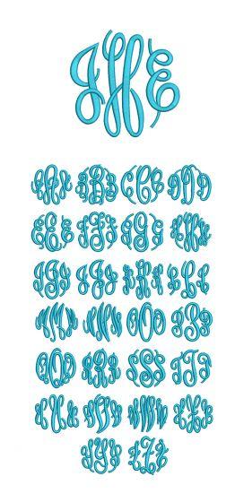 Circle Script Embroidery Monogram Machine Embroidery Designs by JuJu