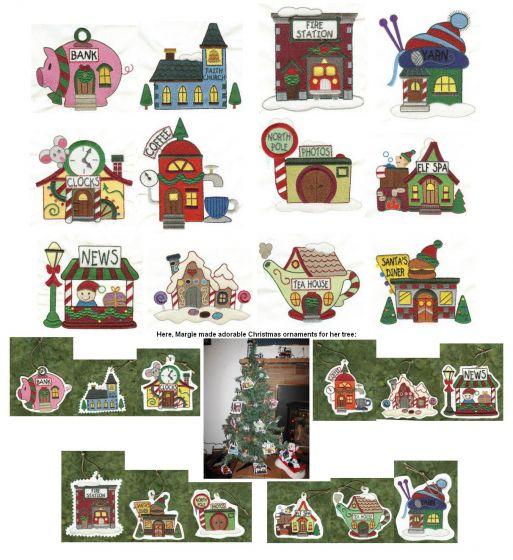 North Pole Village Set 3 filled version