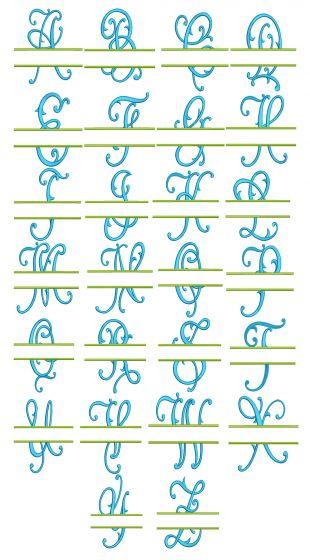 Split Ariana Monogram Machine Embroidery Designs By JuJu