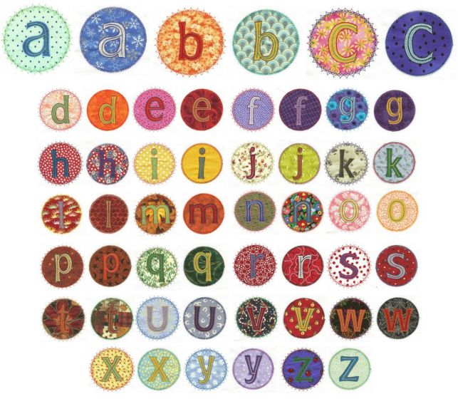 Alphabet Patches Applique