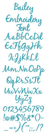 Bailey Embroidery Font Machine Embroidery Designs By JuJu