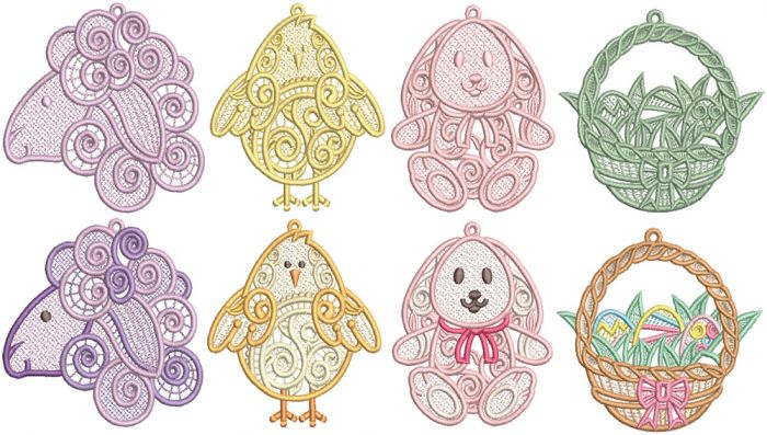 Easter Freestanding Lace Machine Embroidery Designs by JuJu