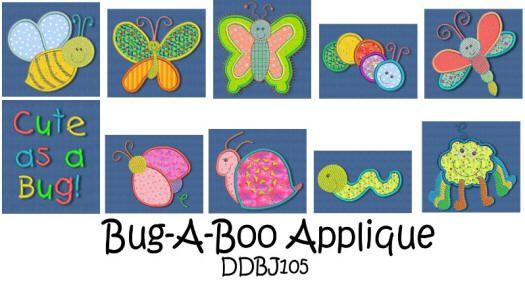 Bug-a-boo Applique 4x4