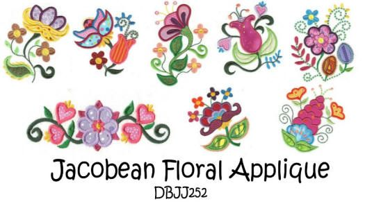 Jacobean Floral Applique
