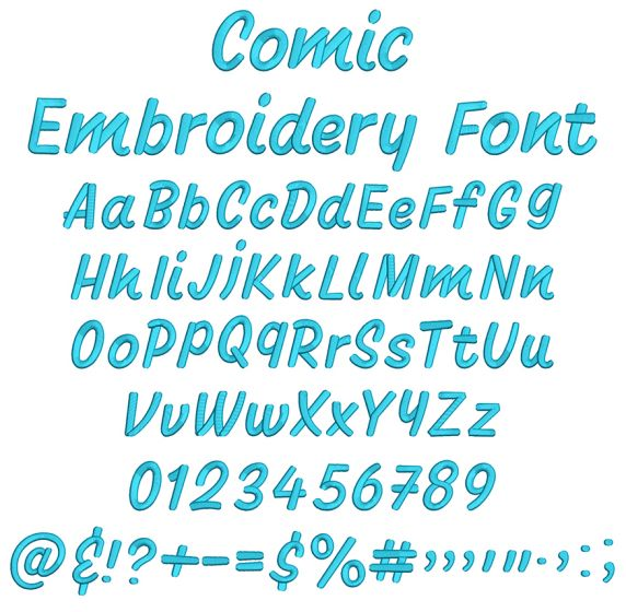 Comic Embroidery Font